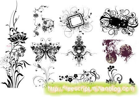 Библиотека векторных рисунков и узоров.